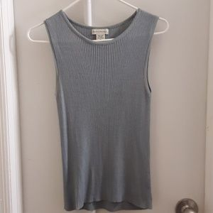 Banana Republic 100% Silk Blue Tank Top M